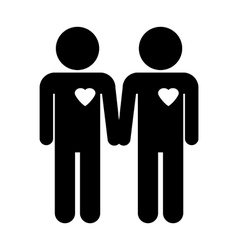 Gay couple symbol vector image