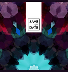 geometric shaped pattern with save the date text vector image