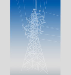 hand drawn sketch of electric tower on white vector image