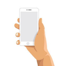 holding a cell mobile phone vector image