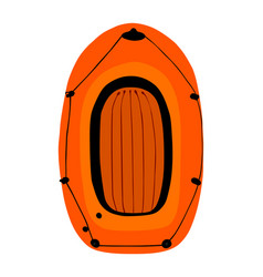 inflatable boat isolated on white rubber boat vector image