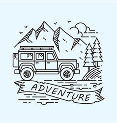 Jeep adventure vector
