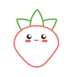 Kawaii fruits design concept vector