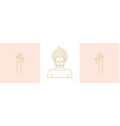 line minimal decoration design elements set vector image