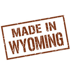 Made in wyoming stamp vector