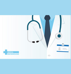 medical background with close up doctor vector image