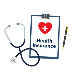 medical insurance medicine and healthcare concept vector image