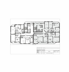 Plan a multi-apartment residential building vector
