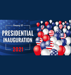 Presidential inauguration usa january 20 2021 vector