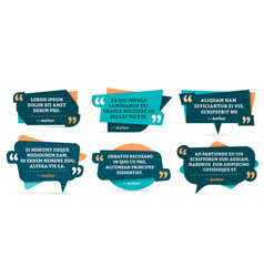 quote remark frames quotation frame quotes and vector image