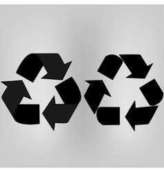 Recycle arrows set vector image