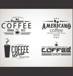 retro vintage coffee design collection 0653 vector image