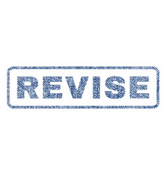 Revise textile stamp vector