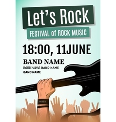 Rock festival poster vector image