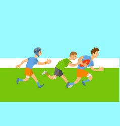 rugteam english sports players on field vector image