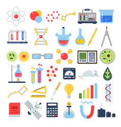 scientific equipment for chemical testing science vector image