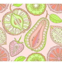 seamless fruits pattern abstract background vector image