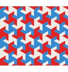 Seamless Geometric Triangle Tessellation vector image