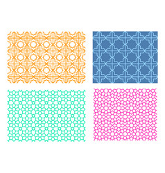 seamless islamic pattern in linear style vector image