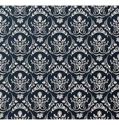 Seamless wallpaper background floral vintage black vector image