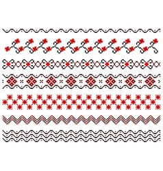 Set of embroidered lines vector image