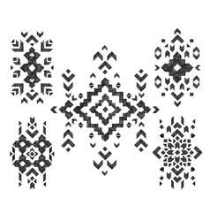 Set of hand drawn tribal design vector