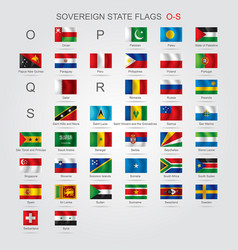 Set of sovereign state flags o-s vector