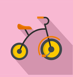Small tricycle icon flat style vector