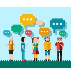 Social people concept vector image
