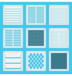 Square ventilation shutters vector