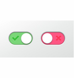 Toggle button switch slider web ui icons vector