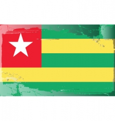 togo national flag vector image