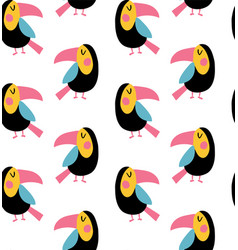 toucan pattern vector image