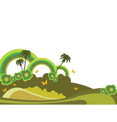 tropical illustration vector image