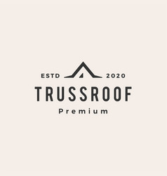 truss rohouse hipster vintage logo icon vector image