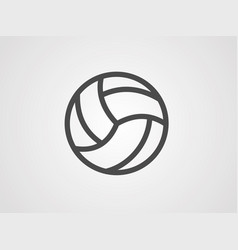 volleyball icon sign symbol vector image