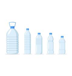 water bottle set vector image