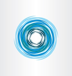 water vortex blue icon abstract background vector image