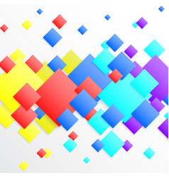 white abstract background with colourful rhombus vector image