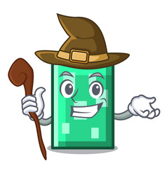 Witch rectangle mascot cartoon style vector