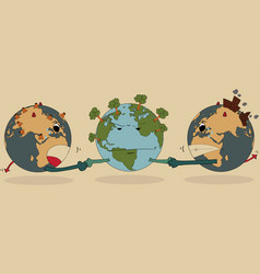 world map earth globe for save world vector image