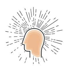 young man profile isolated icon vector image