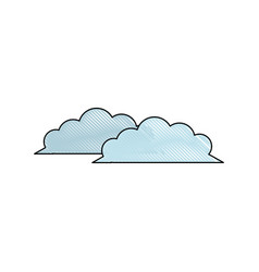 drawing cloud weather climate ecology vector image