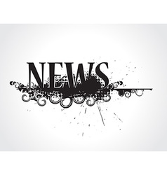 grunge news icon vector image