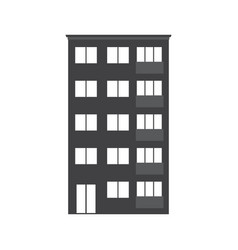 Modern multistory house icon vector