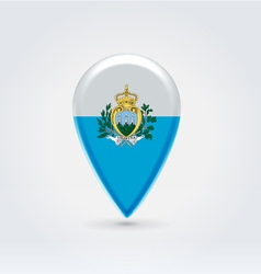 SanMarino icon point for map vector image