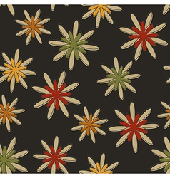 Retro Seamless Flower Background Dark vector image vector image
