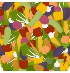 Veggies seamless pattern vector image