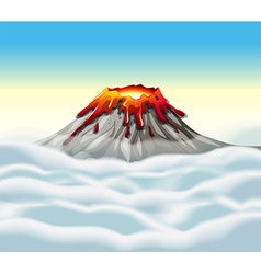 Volcano peak in the sky vector image vector image