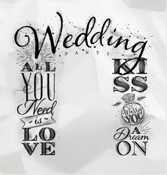 wedding arch backdrop kiss vector image vector image